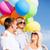 aile · renkli · balonlar · yaz · tatil · kutlama - stok fotoğraf © dolgachov