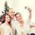 happy family with camera at home stock photo © dolgachov