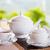 close up of tea service at restaurant or teahouse stock photo © dolgachov