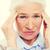 cara · senior · mulher · sofrimento · dor · de · cabeça - foto stock © dolgachov