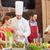 笑みを浮かべて · シェフ · サラダ · 料理の · クラス · キッチン - ストックフォト © dolgachov
