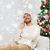 man calling on smartphone at home for christmas stock photo © dolgachov