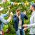 feliz · amigos · dança · verão · festa · jardim - foto stock © dolgachov