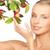 kadın · elma · dal · resim · yüz · sağlık - stok fotoğraf © dolgachov