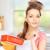 великолепный · женщину · кухне · улыбка · счастливым - Сток-фото © dolgachov