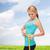 女性 · 巻き尺 · 緑 · 腹部 - ストックフォト © dolgachov