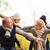 happy family having fun in autumn park stock photo © dolgachov
