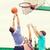группа · подростков · играет · баскетбол · Летние · каникулы · праздников - Сток-фото © dolgachov