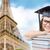 student · meisje · afstuderen · hoed · achteraanzicht - stockfoto © dolgachov