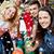 счастливым · друзей · боулинг · клуба · зимний · сезон · люди - Сток-фото © dolgachov
