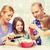 famille · heureuse · deux · enfants · salade · maison - photo stock © dolgachov
