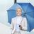 小さな · 笑みを浮かべて · 女性実業家 · 傘 · 屋外 · ビジネス - ストックフォト © dolgachov