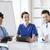 gruppo · felice · medici · riunione · ospedale · ufficio - foto d'archivio © dolgachov