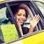 nő · lovaglás · autó · sofőr · gyönyörű · nő · mosoly - stock fotó © dolgachov
