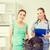 feliz · mujer · gato · médico · veterinario · clínica - foto stock © dolgachov