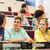 grupy · studentów · mówić · wykład · sali · edukacji - zdjęcia stock © dolgachov