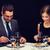 sonriendo · Pareja · comer · restaurante · vacaciones - foto stock © dolgachov