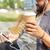 hombre · potable · café · personas - foto stock © dolgachov