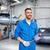 heureux · mécanicien · automobile · homme · voiture · atelier · Ouvrir · la - photo stock © dolgachov