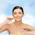 kadın · omega · 3 · vitaminler · sağlık · güzellik · yüz - stok fotoğraf © dolgachov