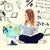 kind · naar · wereldbol · boek · onderwijs - stockfoto © dolgachov