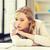 vervelen · moe · vrouw · documenten · business · onderwijs - stockfoto © dolgachov