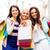lányok · bevásárlótáskák · vásárlás · turizmus · gyönyörű · város - stock fotó © dolgachov