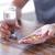 omega3 · halolaj · kapszulák · áramló · ki · üveg - stock fotó © dolgachov