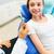 felice · dentista · spazzolino · paziente · ragazza - foto d'archivio © dolgachov