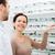 nő · mutat · szemüveg · optikus · optika · bolt - stock fotó © dolgachov