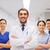 happy group of medics or doctors at hospital stock photo © dolgachov