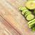 közelkép · friss · zöld · dzsúz · üveg · zöldségek - stock fotó © dolgachov