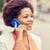 işkadını · telefon · portre · iletişim · konuşma - stok fotoğraf © dolgachov