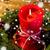 christmas · wieniec · Świeca · tabeli · wakacje - zdjęcia stock © dolgachov