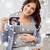 беременная · женщина · ультразвук · изображение · ноутбука · беременности · связи - Сток-фото © dolgachov