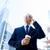 ビジネスマン · スマートフォン · コーヒー · 市 · ビジネス · 技術 - ストックフォト © dolgachov