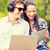 estudiantes · adolescentes · portátil · computadoras · verano · Internet - foto stock © dolgachov