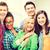 csoport · diákok · iskola · oktatás · nők · boldog - stock fotó © dolgachov
