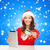 woman in santa hat with tablet pc and credit card stock photo © dolgachov