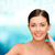 sorridente · mulher · jovem · nu · ombros · beleza · pessoas - foto stock © dolgachov