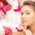 若い女の子 · 花 · 触れる · 美しい · 顔 · かなり - ストックフォト © dolgachov