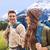 felice · giovani · escursionista · Coppia · montagna · mani - foto d'archivio © dolgachov