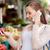 妊婦 · 呼び出し · スマートフォン · 市場 · 販売 · ショッピング - ストックフォト © dolgachov