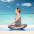 yoga · fille · plage · mer · posent - photo stock © dolgachov