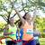 felice · giovani · femminile · runner · vincente · gara - foto d'archivio © dolgachov