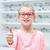 optikus · szemüveg · lány · optika · bolt · egészségügy - stock fotó © dolgachov