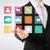 man · presenteren · interface · toepassing · zakenman - stockfoto © dolgachov