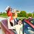 gelukkig · vrienden · auto · vakantie · groep - stockfoto © dolgachov