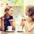 gülen · kadın · çay · iki · açık · havada - stok fotoğraf © dolgachov