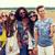 hippie · amigos · vara · natureza · verão - foto stock © dolgachov